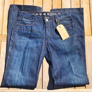 Earnest Sewn Gemma Dark Wash Wide Leg Jeans NWT